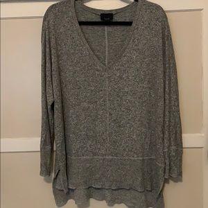 Gray V neck sweater